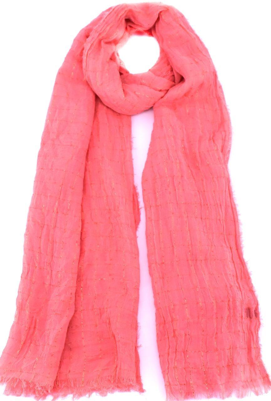 Moderní šátek  - lososová