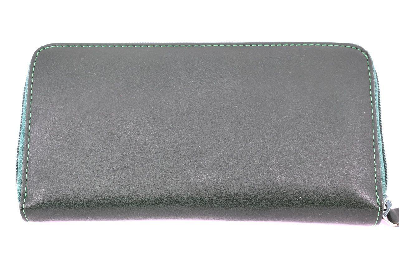 Dámská kožená peněženka Valentini pouzdrového typu - zelená 35813