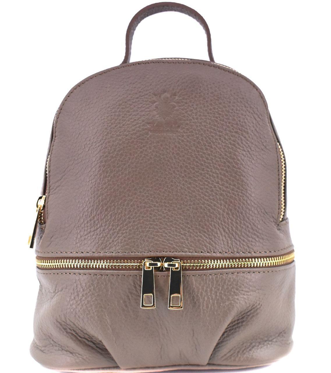 Dámský/dívčí kožený batůžek Arteddy - taupe 38958
