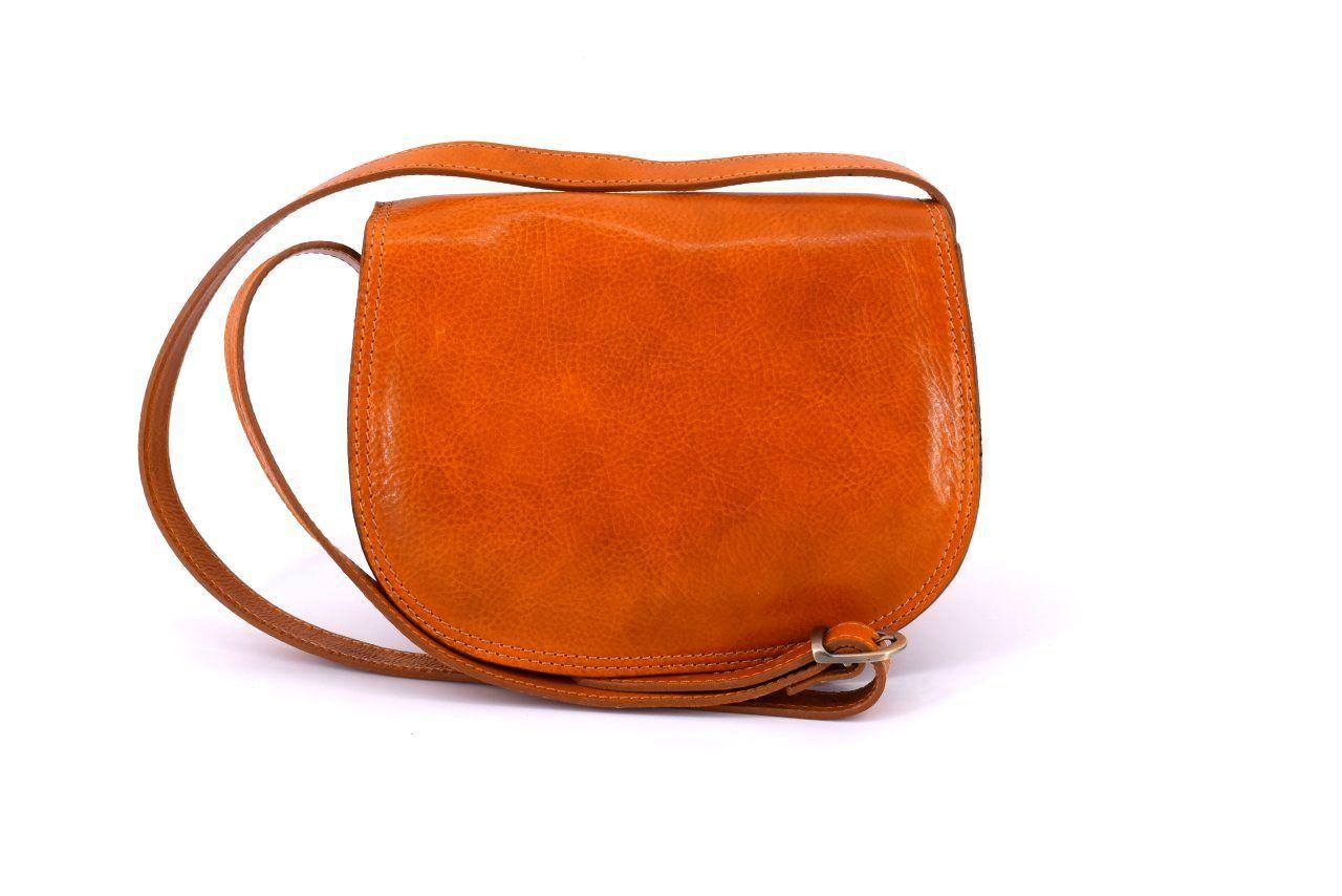Dámská kožená kabelka crossbody (lovecká) Arteddy - camel
