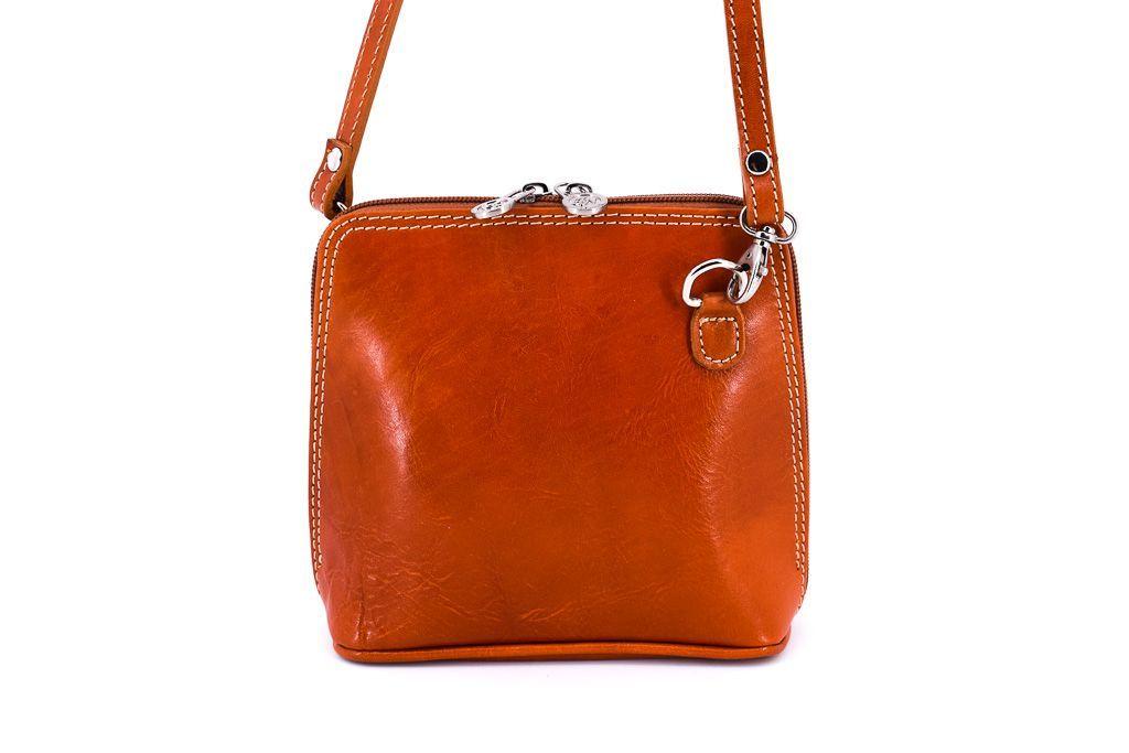 Dámská kožená kabelka crossbody Arteddy - camel 28929