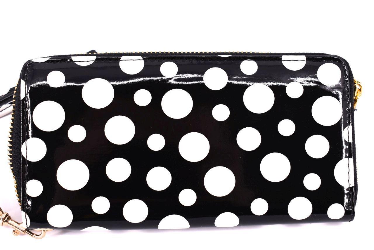 Dámská / dívčí peněženka pouzdrového typu lakovaná - černá 25675