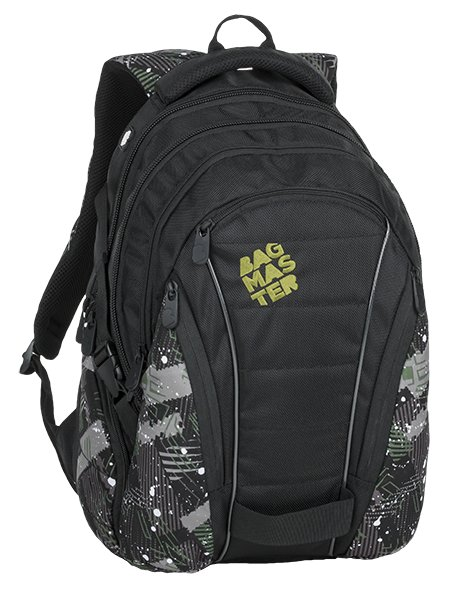 Studentský batoh BAGMASTER BAG 9 G GREEN/GRAY/BLACK