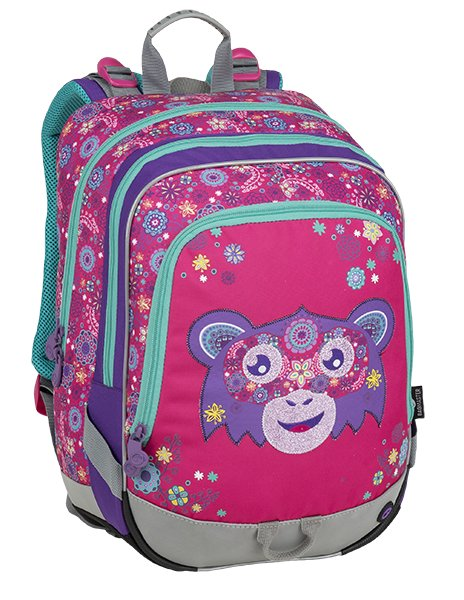 Školní batoh pro prvňáčky BAGMASTER ALFA 9 A PINK/VIOLET