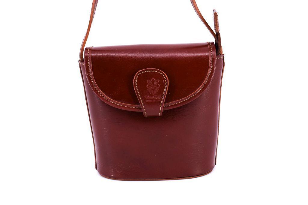 Dámská kožená kabelka crossbody Arteddy - hnědá