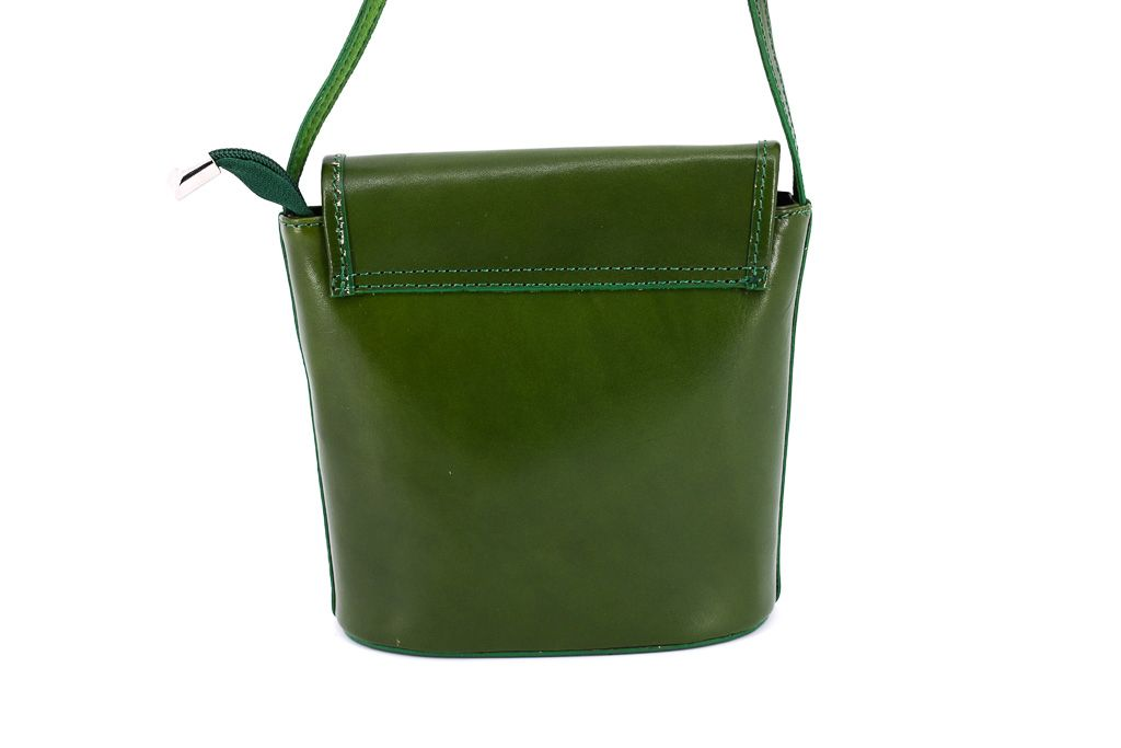 Dámská kožená kabelka crossbody Arteddy - tmavě hnědá