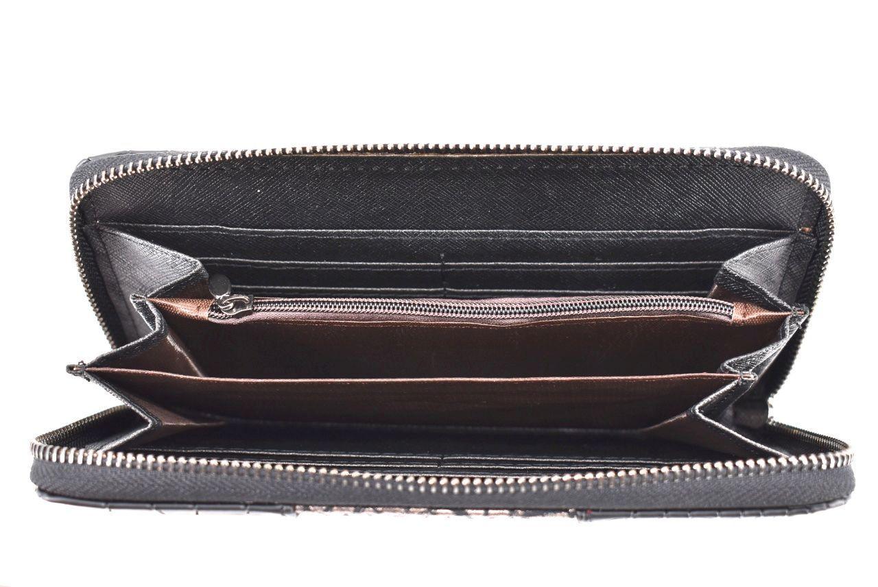 Dámská peněženka z Eko kůže - černá 33795