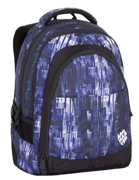 Studentský batoh Bagmaster DIGITAL 7 CH BLUE/BLACK 8591805007636