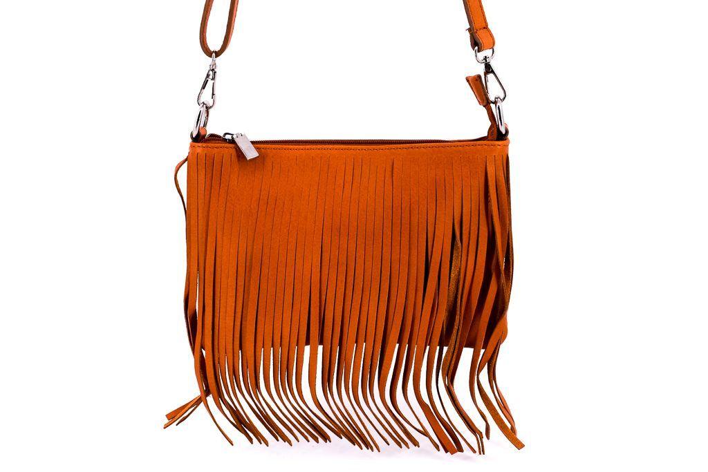 Dámská kožená kabelka crossbody Arteddy - camel 32499