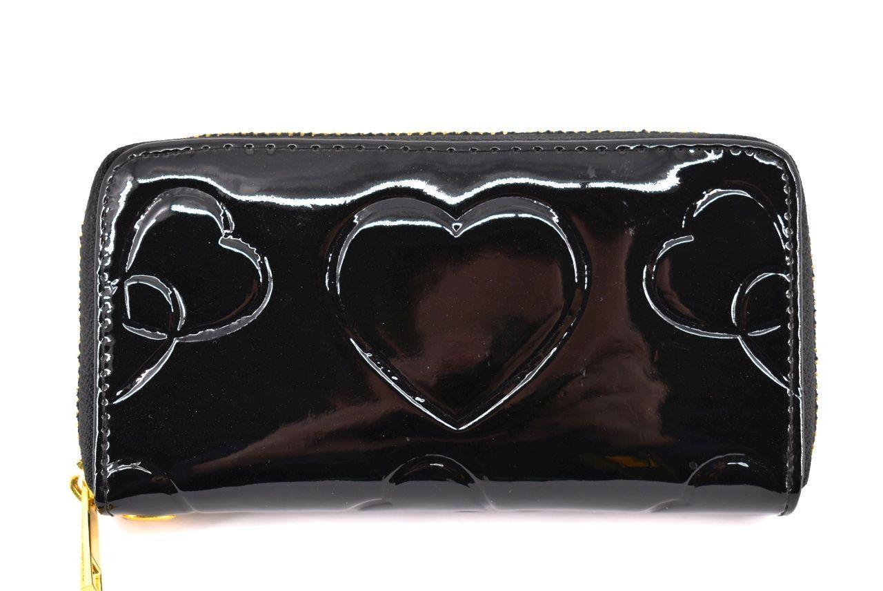 Dívčí peněženka  pouzdrového typu  lakovaná - černá