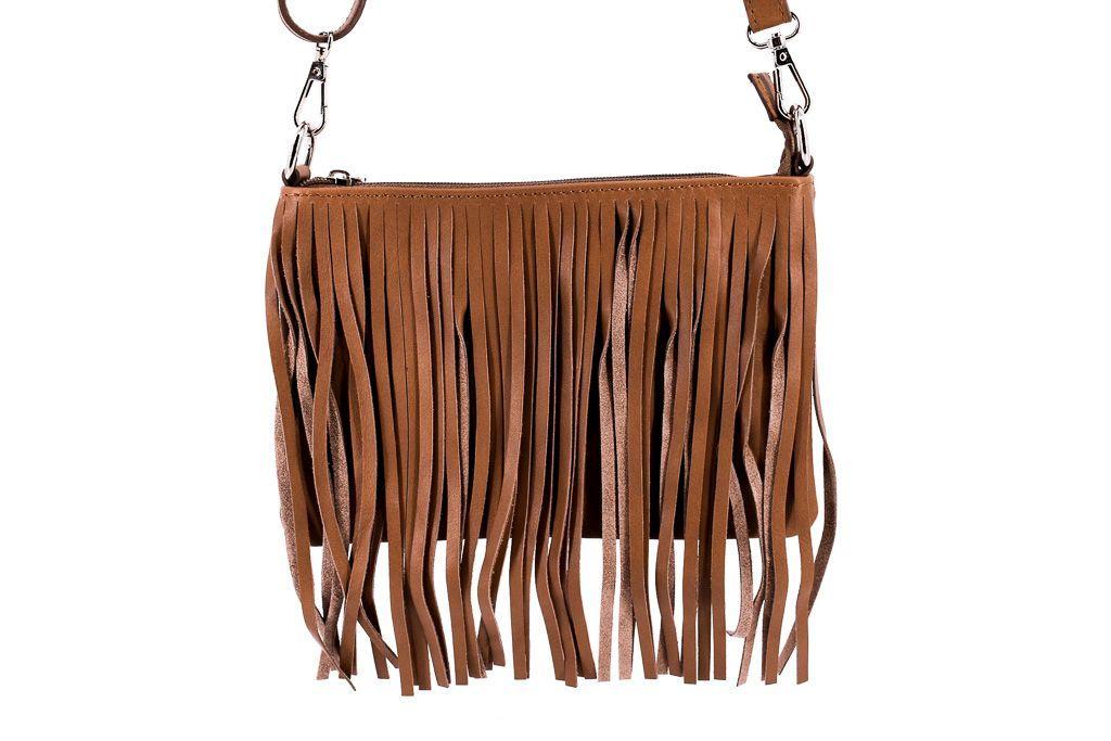 Dámská kožená kabelka crossbody Arteddy - béžová 32499