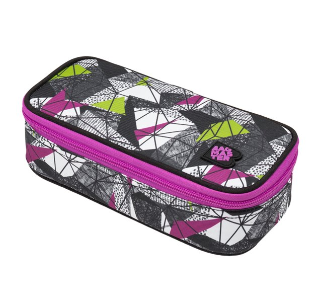 Studentský penál BAGMASTER CASE BAG 9 B PURPLE/GREEN/BLACK 8591805009920