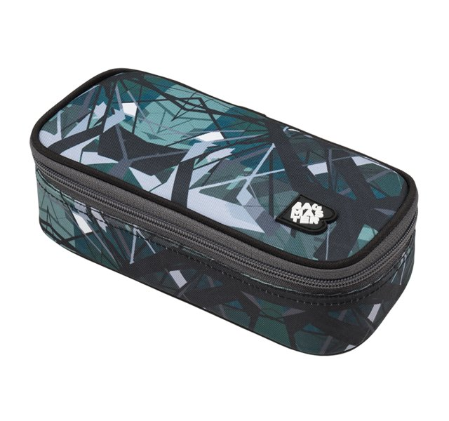 Studentský penál BAGMASTER CASE BAG 9 E GREEN/GRAY/ BLACK 8591805009937