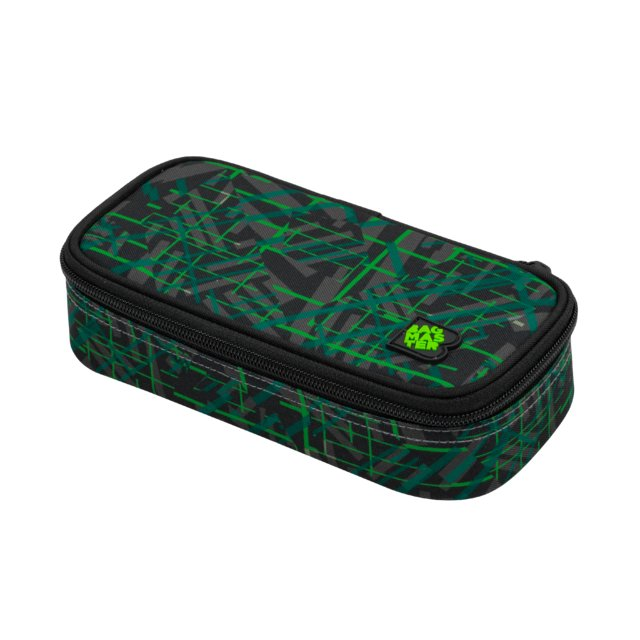 Studentský penál BAGMASTER CASE DIGITAL 20 D GREEN/BLACK/GRAY 8591805010919
