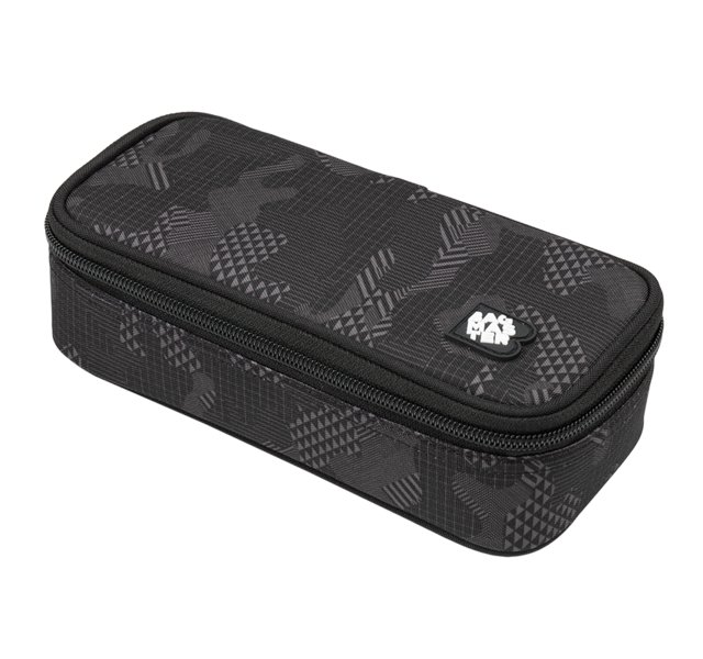 Studentský penál BAGMASTER CASE DIGITAL 9 F DARK GRAY/BLACK 8591805009968