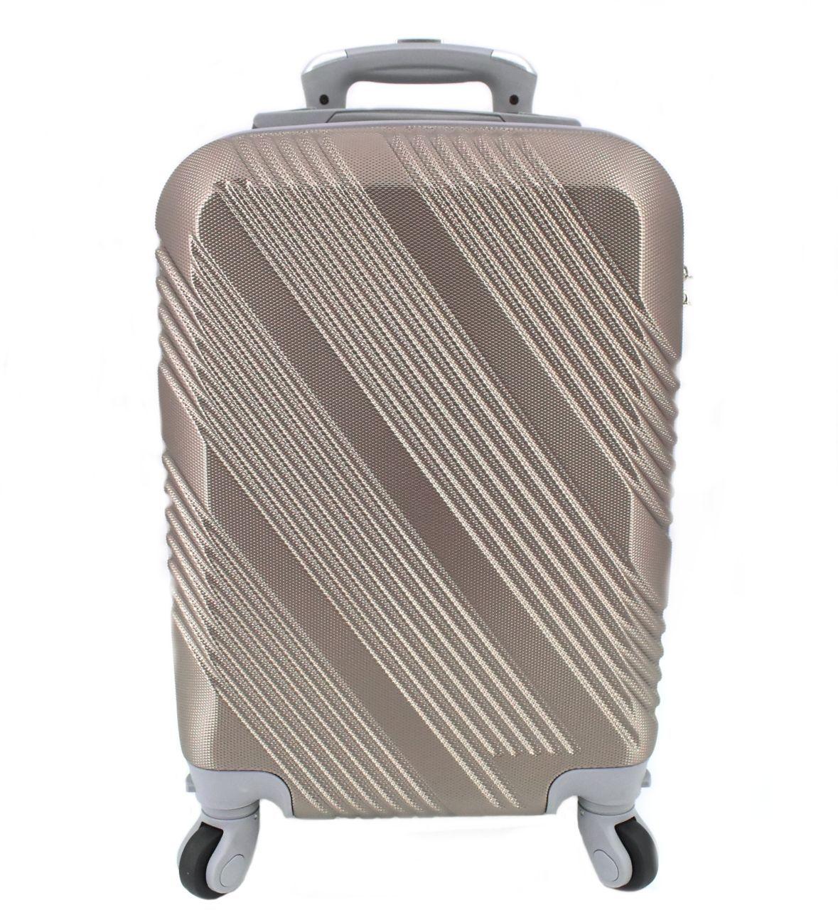 Cestovní palubní kufr Arteddy / 4 kolečka - šampaň (XS) 30l