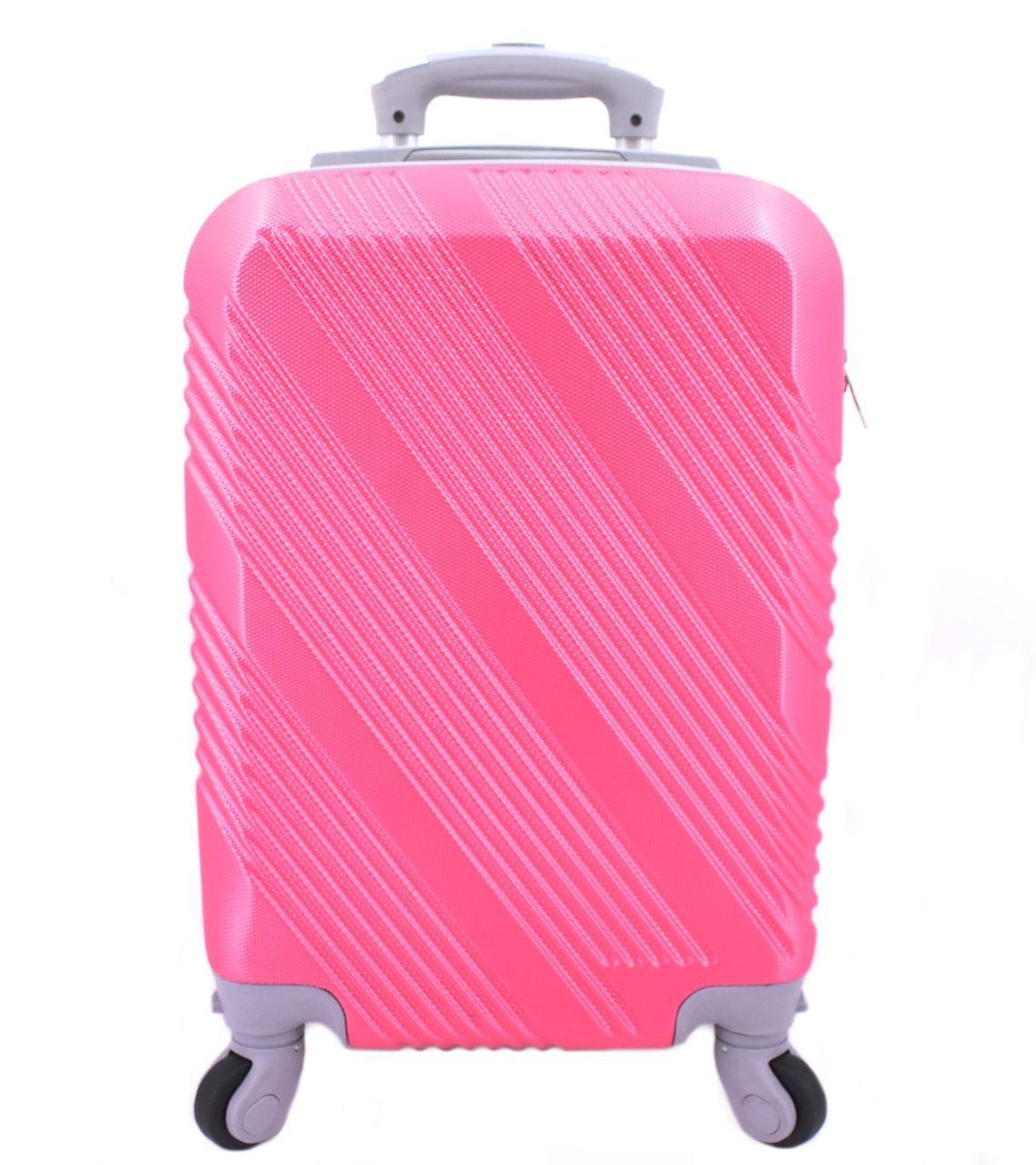 Cestovní palubní kufr Arteddy / 4 kolečka - růžová (XS) 30l
