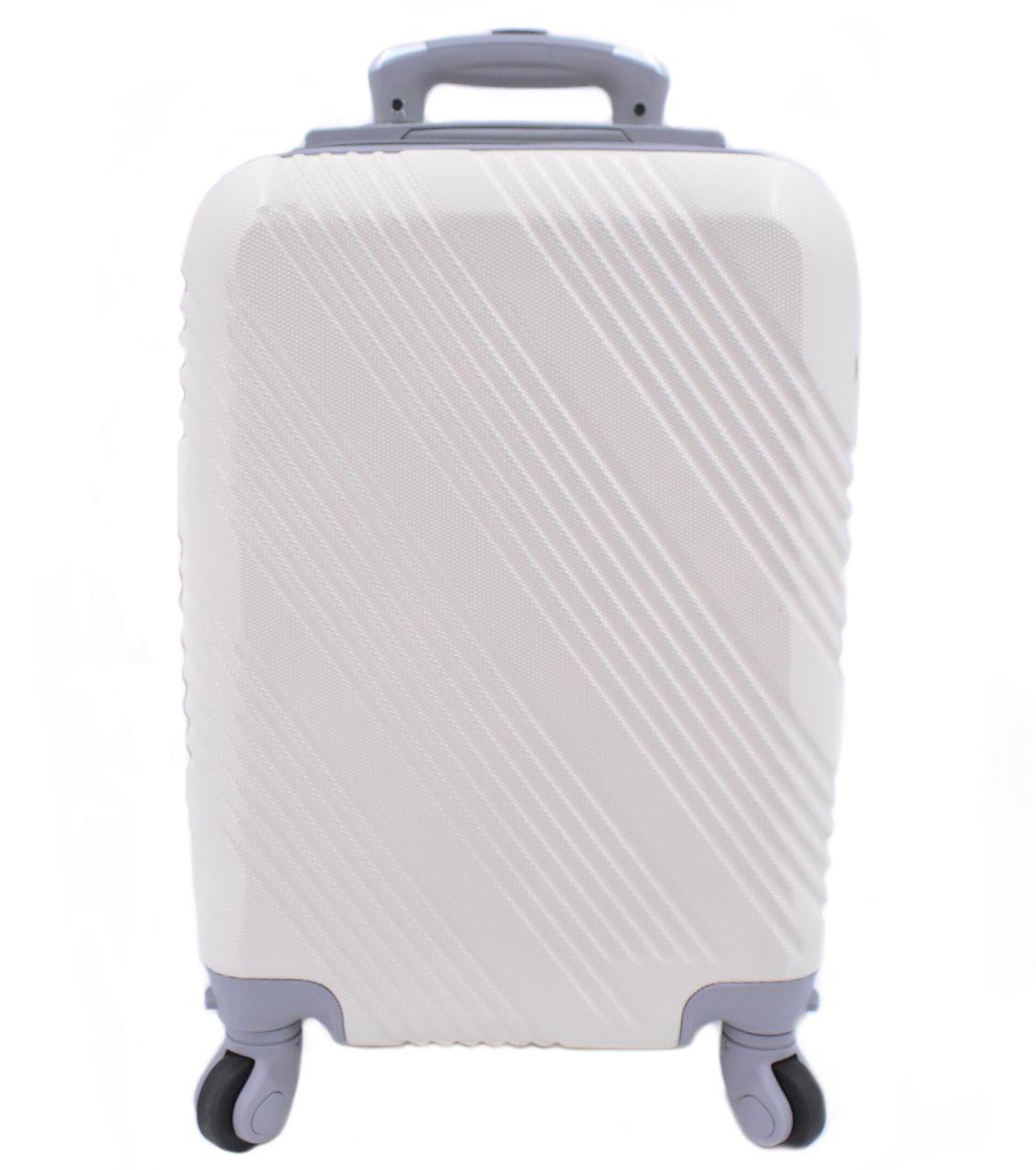 Cestovní palubní kufr Arteddy / 4 kolečka - krémová (XS) 30l