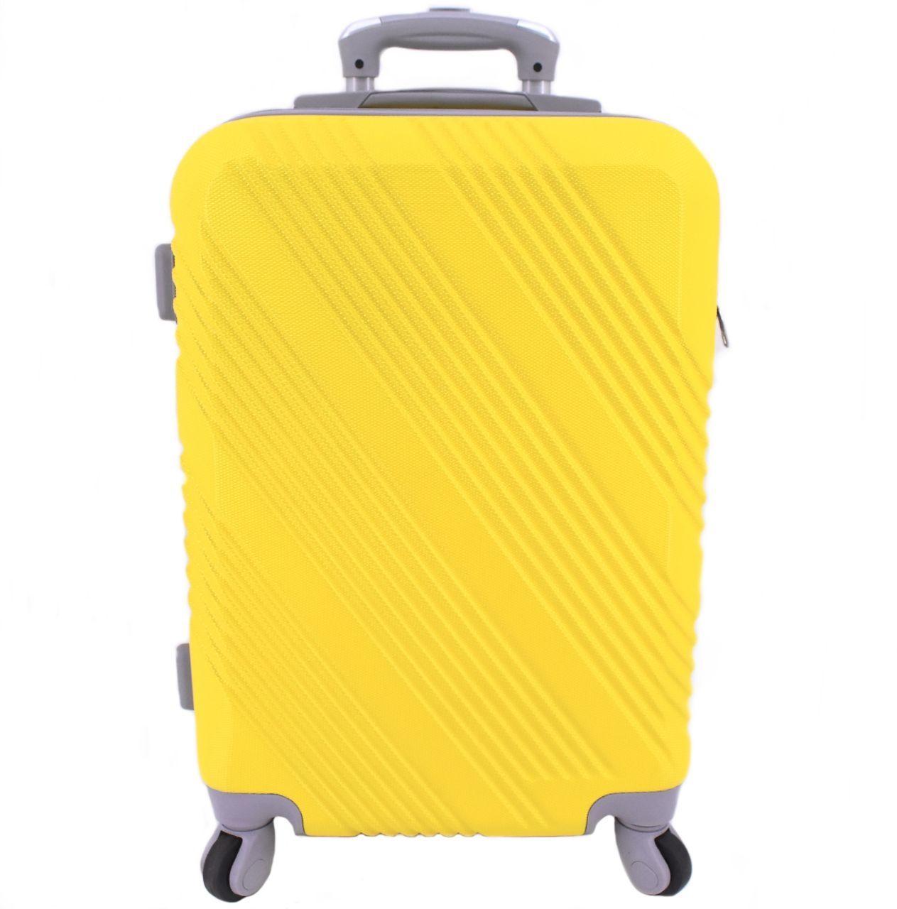 Cestovní palubní kufr Arteddy / 4 kolečka - žlutá (S) 40l