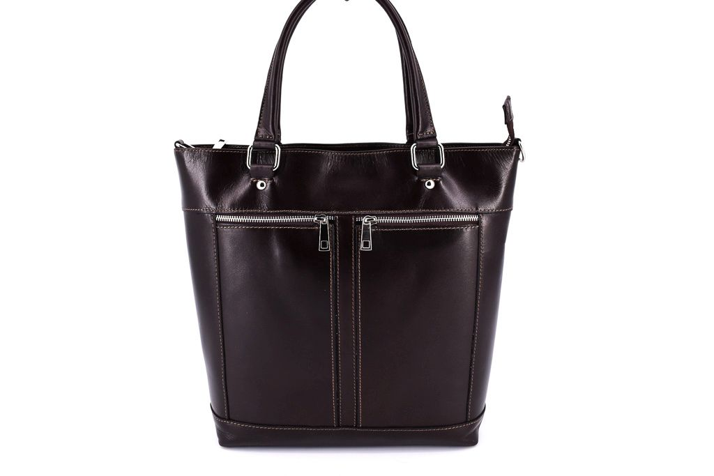 Dámská kožená kabelka Arteddy - tmavě hnědá 29568