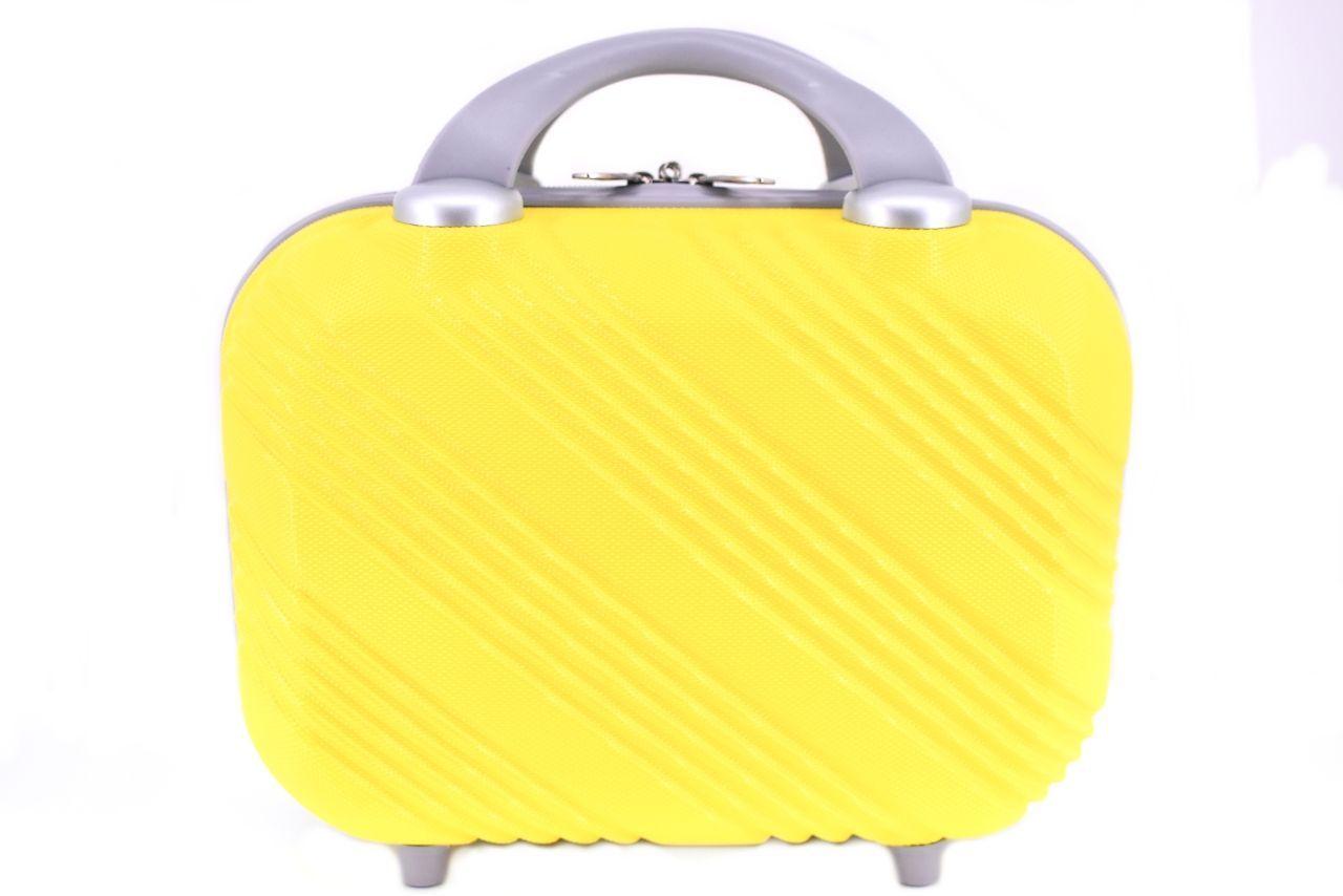 Kosmetický palubní příruční kufr Arteddy malý - žlutá