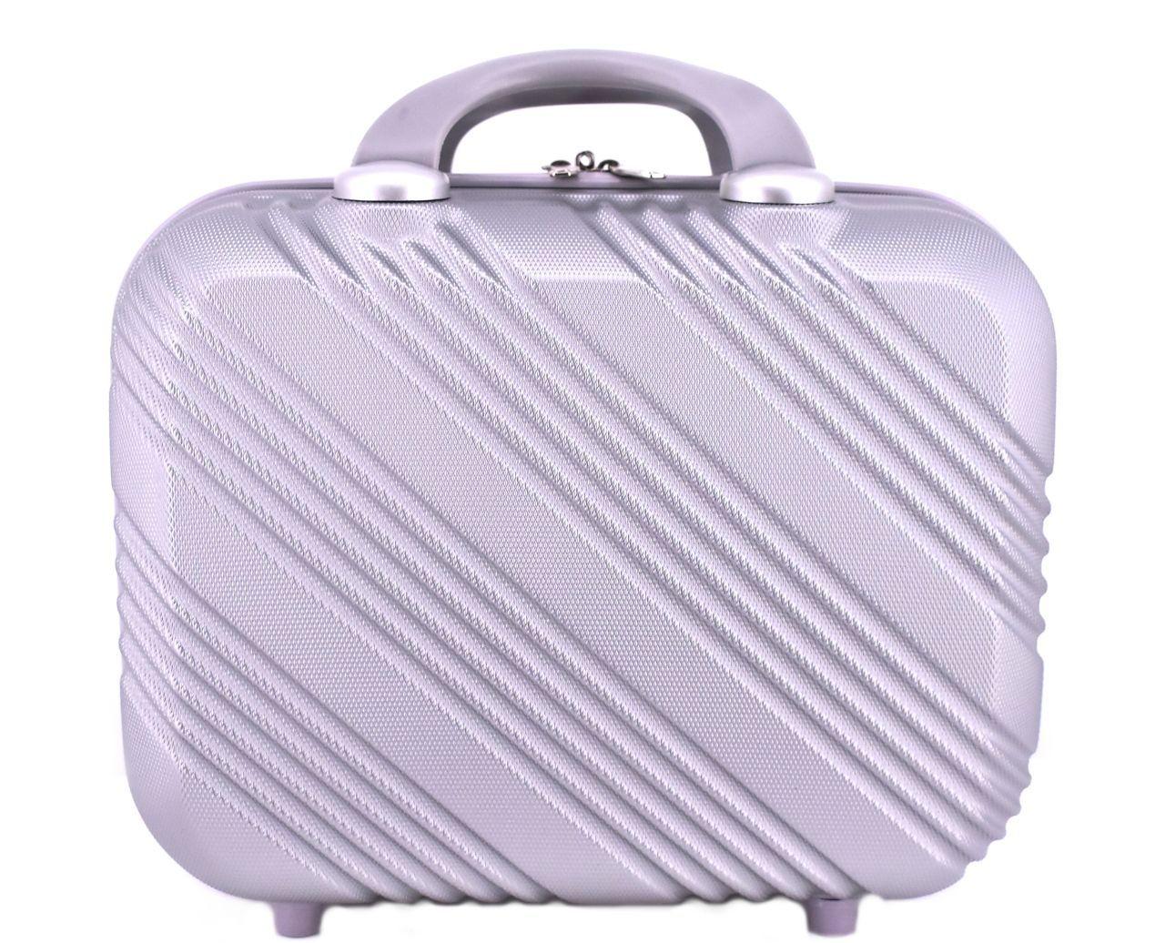 Kosmetický palubní příruční kufr Arteddy velký - stříbrná