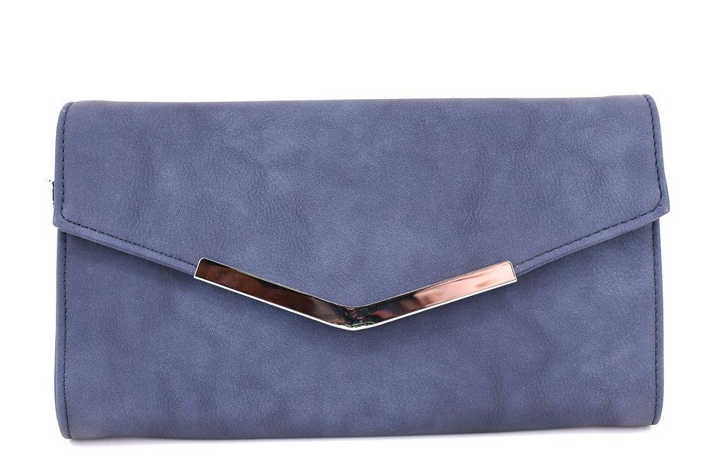 Dámská kabelka psaníčko - modrá 35882