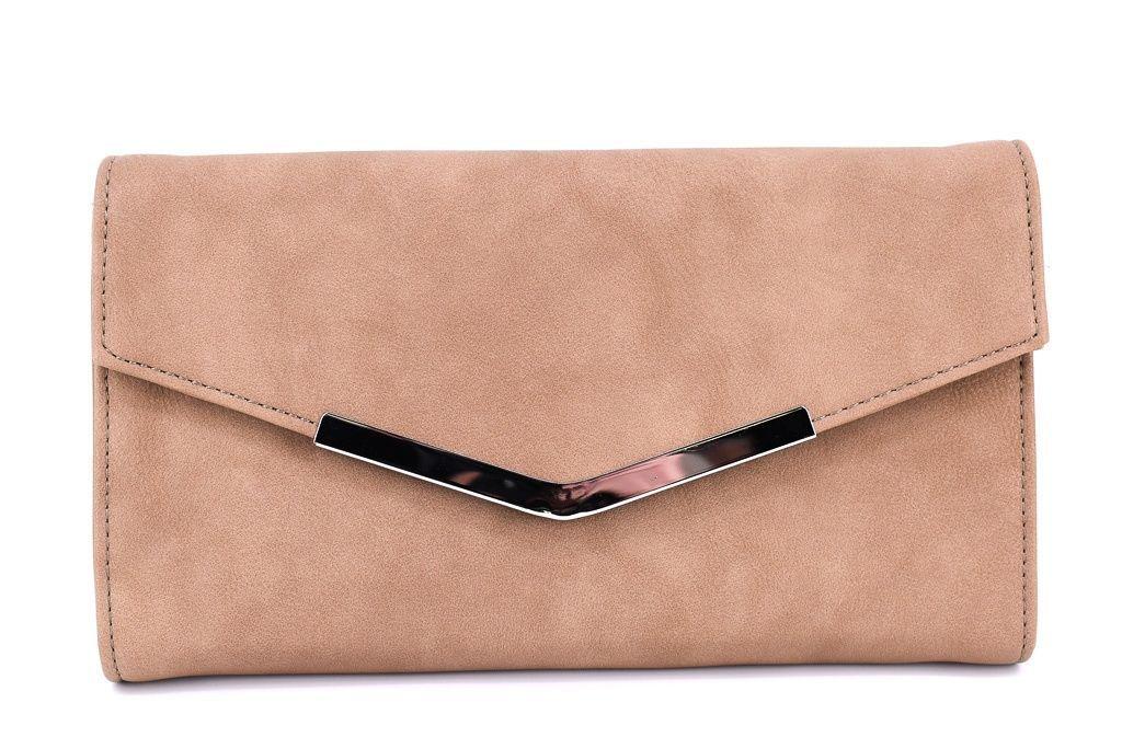 Dámská kabelka psaníčko - béžová 35882