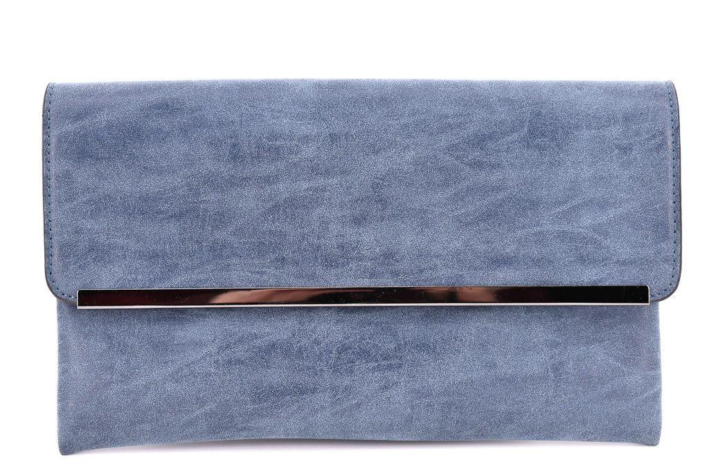 Dámská kabelka psaníčko - modrá 35884