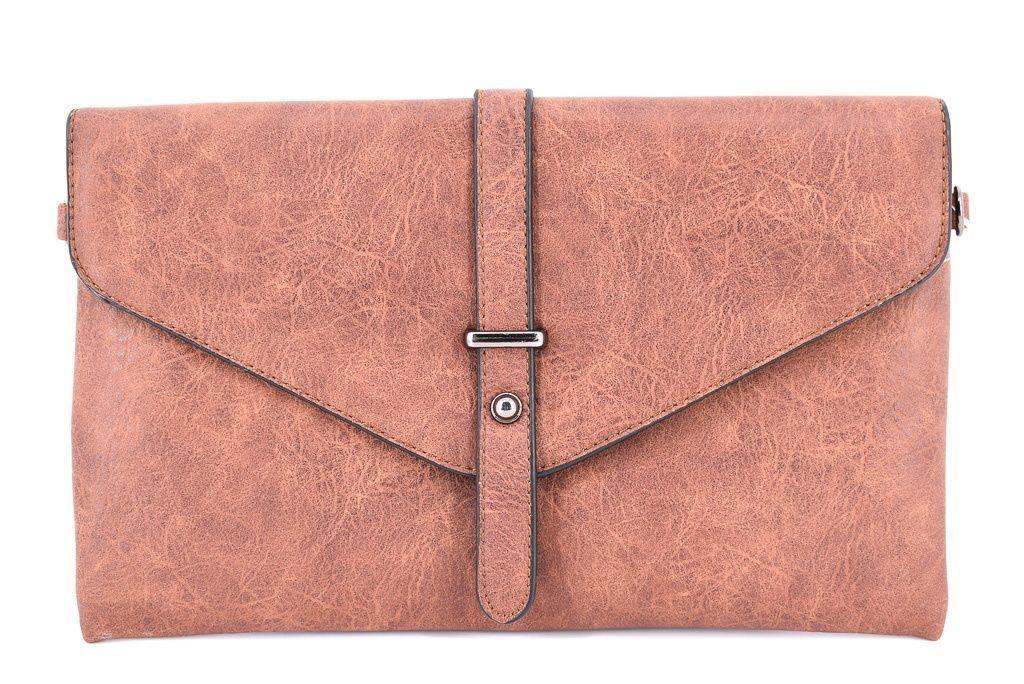 Dámská kabelka psaníčko - hnědá 33682