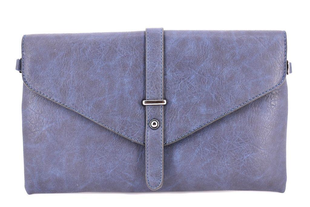 Dámská kabelka psaníčko - modrá 33682