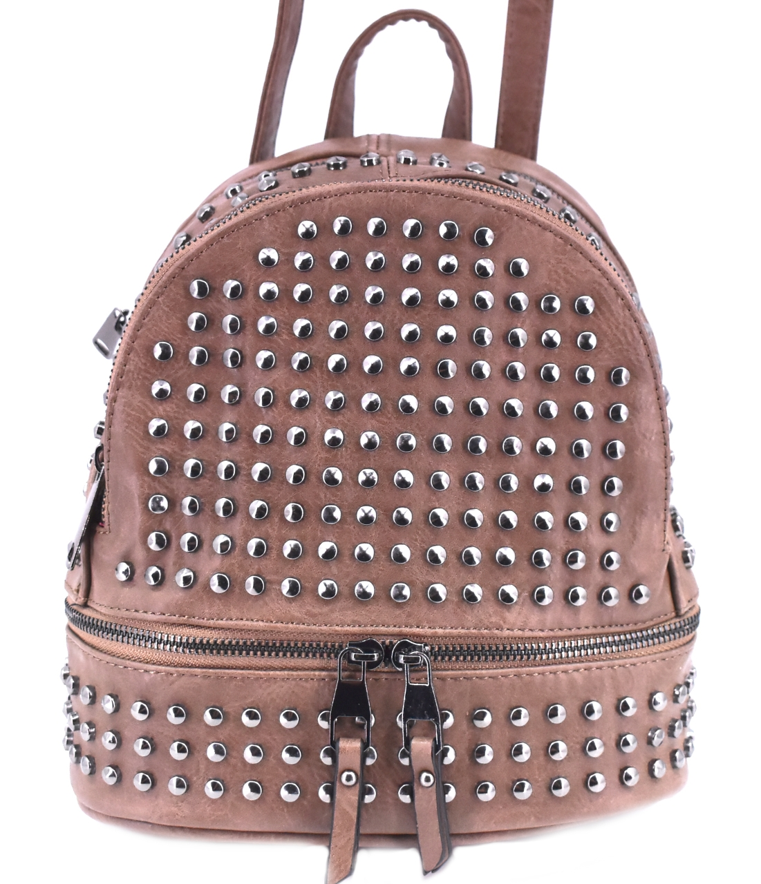 Moderní batoh a kabelka v jednom - taupe