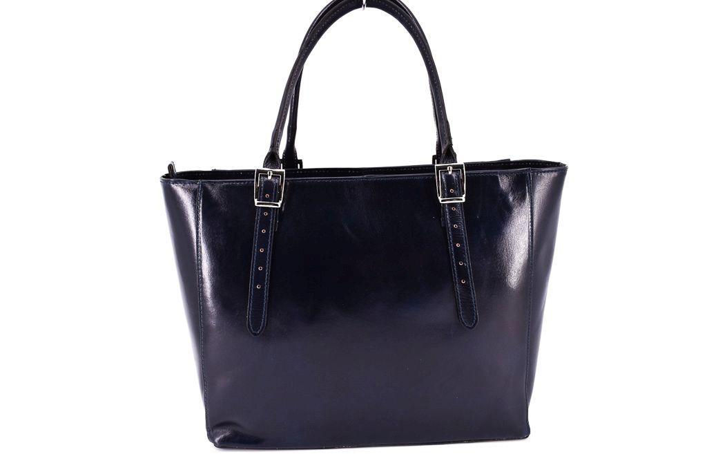 Dámská kožená kabelka Arteddy - tmavě modrá 29564