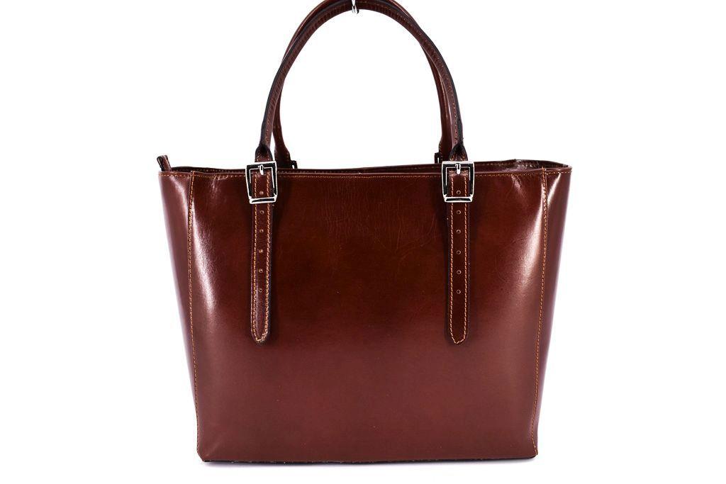 Dámská kožená kabelka Arteddy - hnědá 29564