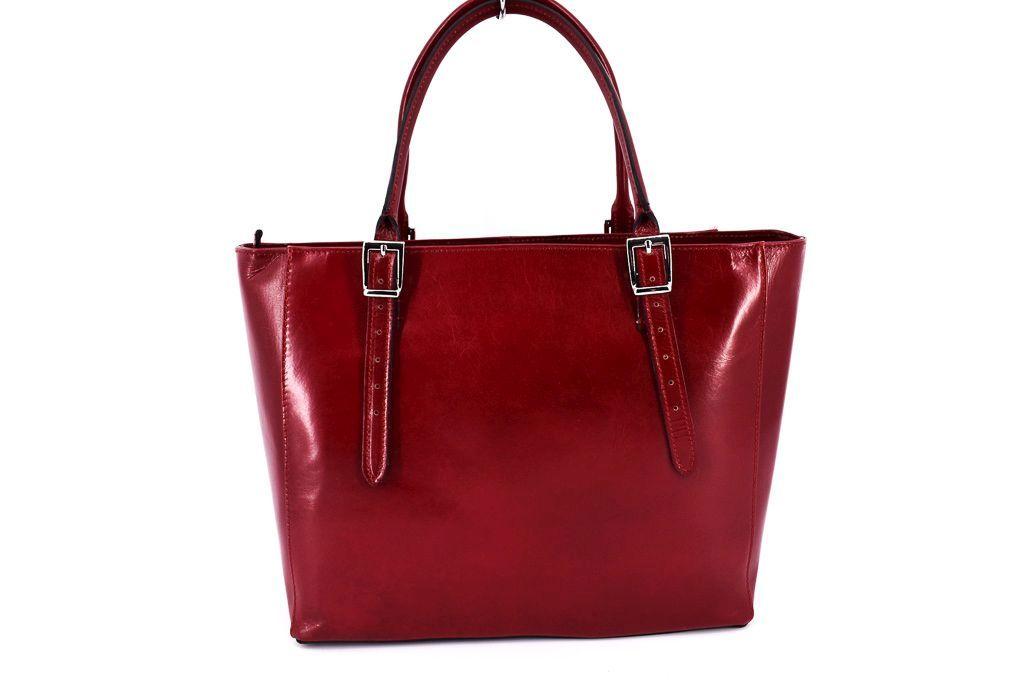Dámská kožená kabelka Arteddy - červená 29564