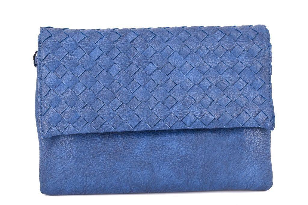 Dámská kabelka psaníčko - modrá 31366