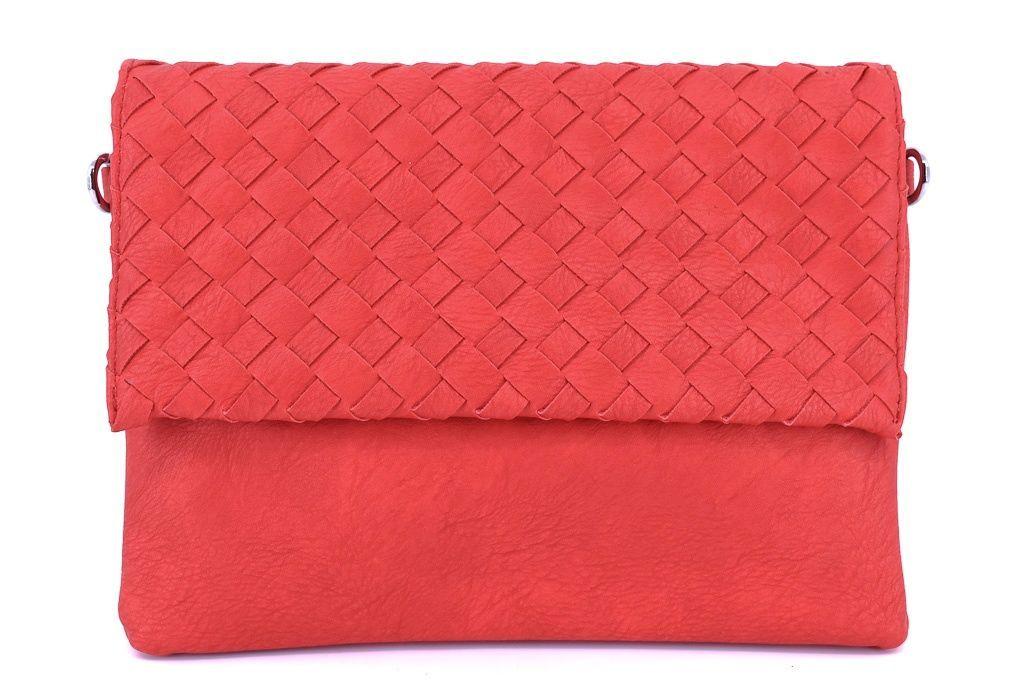 Dámská kabelka psaníčko - červená 31366