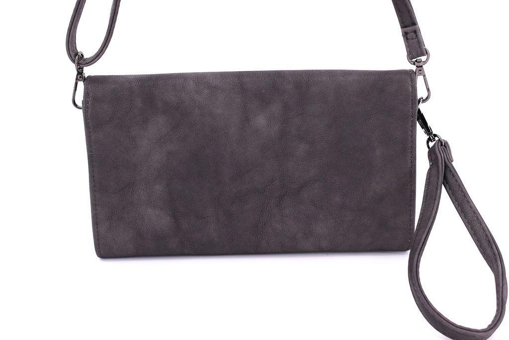 Dámská kabelka psaníčko - tmavě hnědá 33683