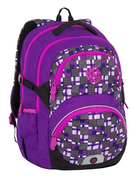 Dívčí školní batoh pro třeťáky Bagmaster THEORY 7 C VIOLET/PINK 8591805007414