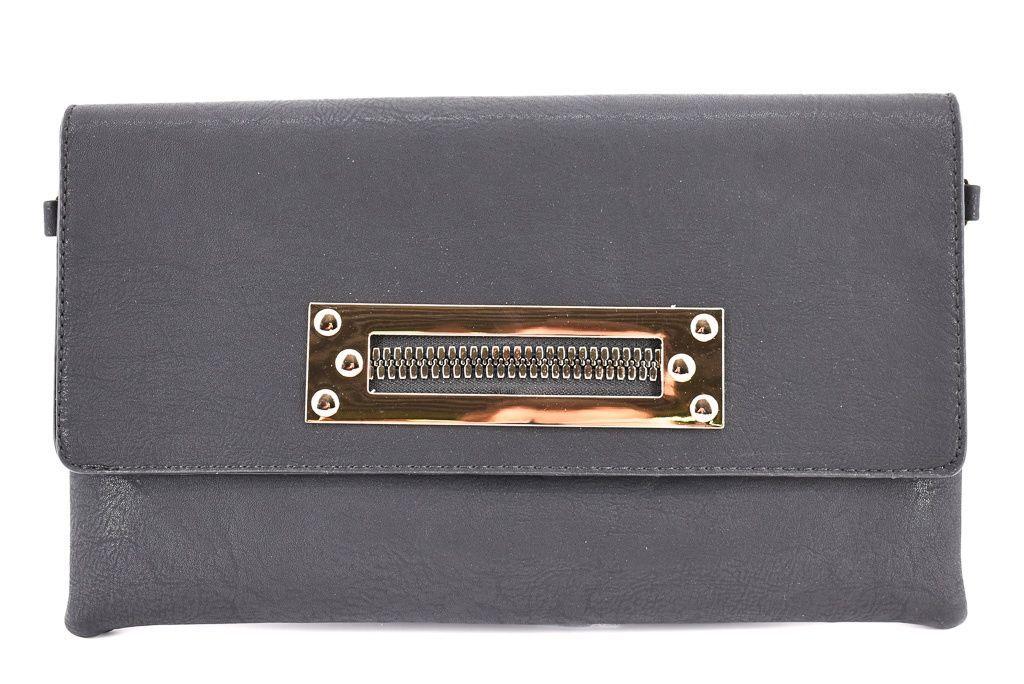 Dámská kabelka psaníčko - černá 31222
