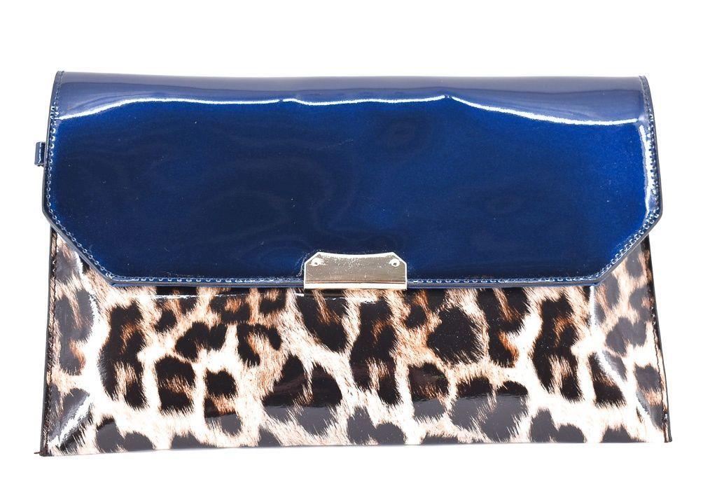 Dámská kabelka psaníčko - modrá 30762