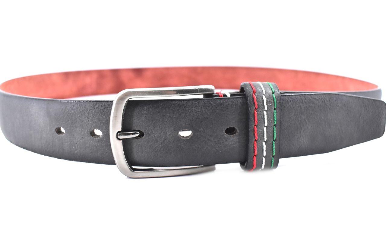 Moderní opasek do Jeans - tmavě šedá / 120 38522