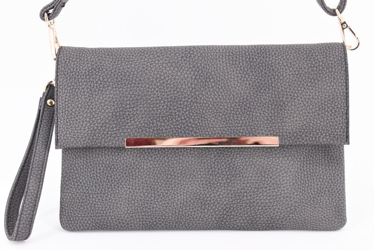 Dámská kabelka psaníčko - tmavě šedá 32047