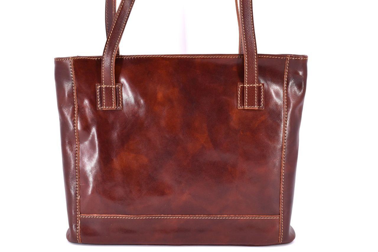 Dámská kožená kabelka Arteddy - hnědá 29621