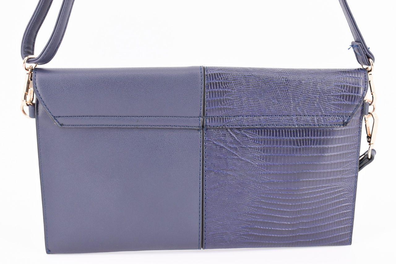 Dámská kabelka psaníčko - tmavě modrá 31214