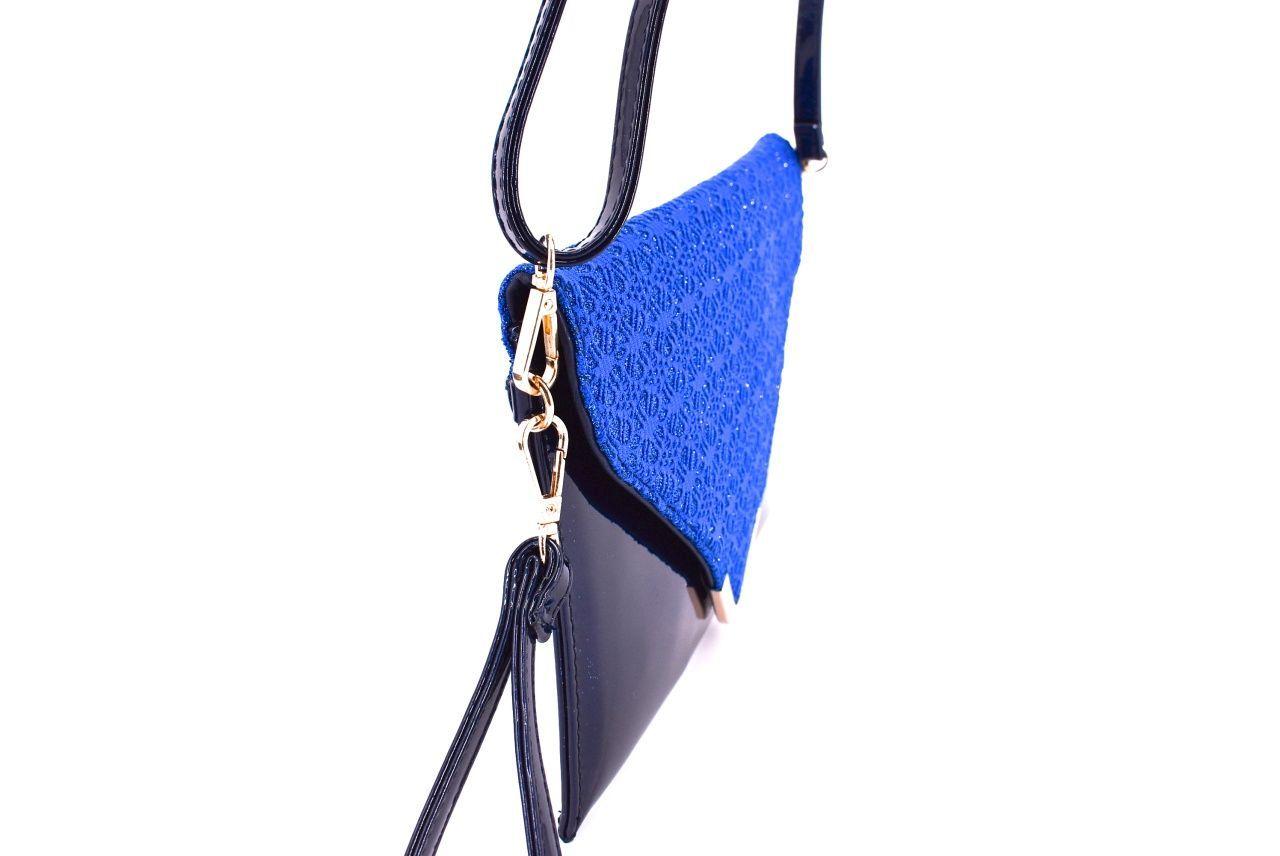 Dámská kabelka psaníčko - modrá 30770