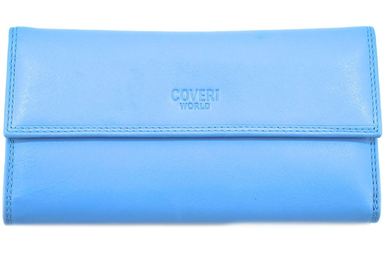 Dámská kožená peněženka z pravé kůže Coveri - světle modrá 27770