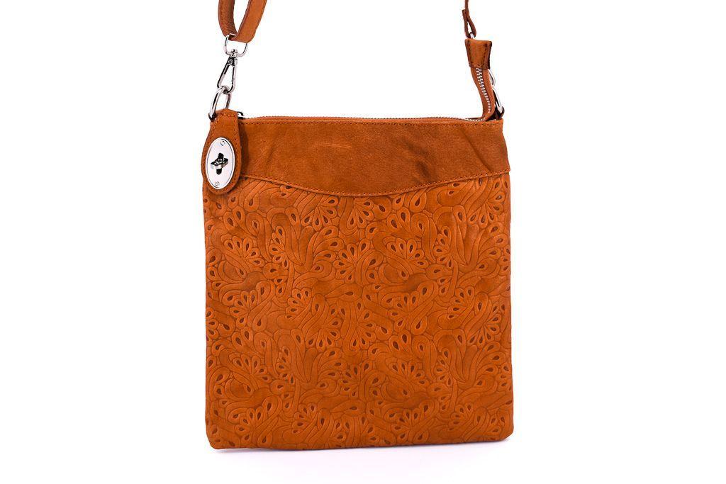 Dámská kožená kabelka crossbody Arteddy - camel 35867