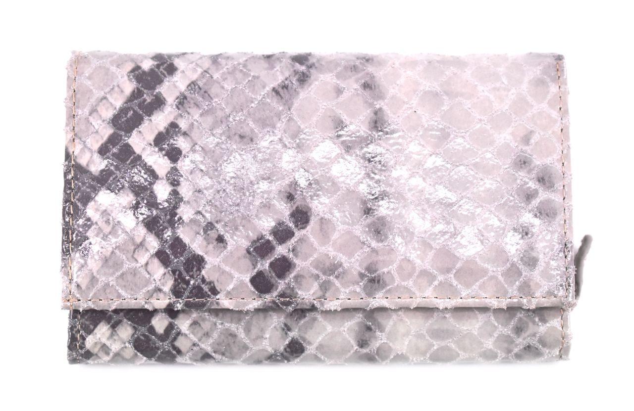 Luxusní dámská kožená peněženka z pravé kůže Arteddy - světle šedá 28627
