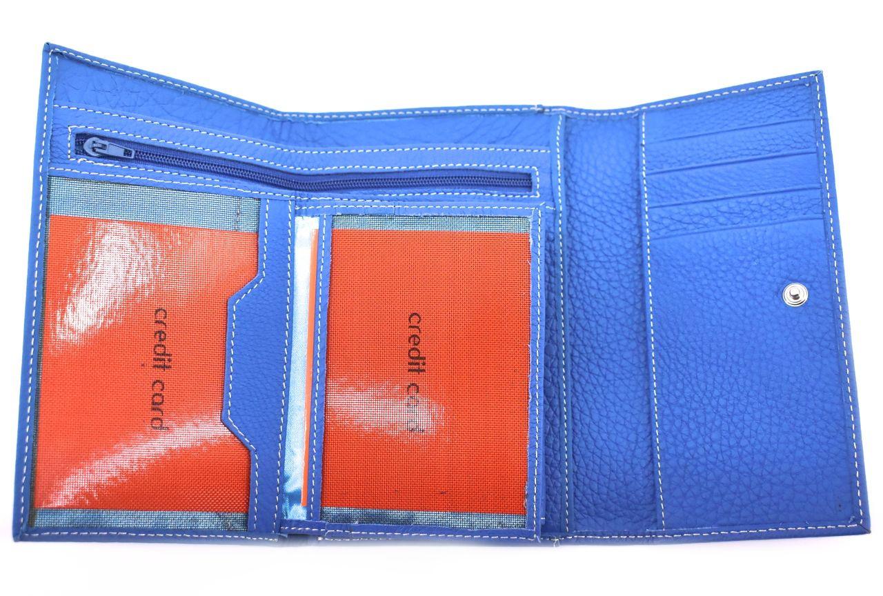 Dámská kožená peněženka z pravé kůže - modrá